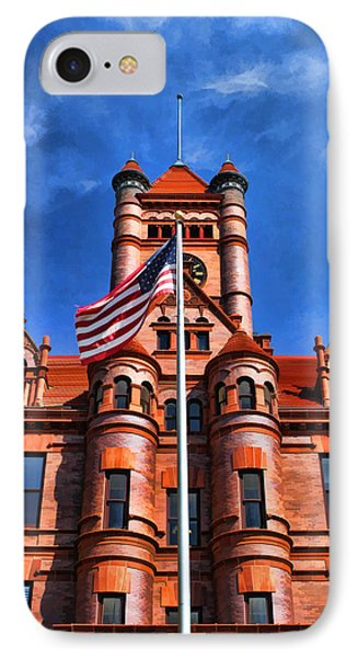 Old Dupage County Courthouse Flag IPhone Case