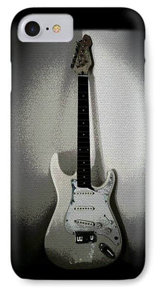 Old Electric Guitar IPhone Case by Absinthe Art By Michelle LeAnn Scott