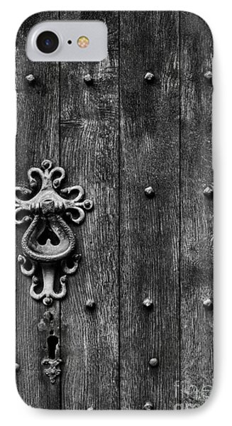 Old English Church Door Handle IPhone Case by Tim Gainey