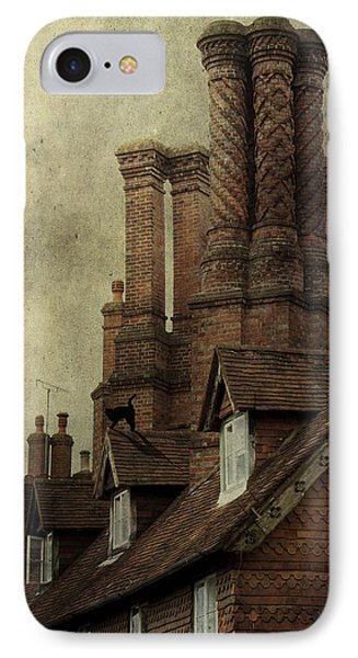 IPhone Case featuring the photograph Old English House With Cat by Ethiriel  Photography