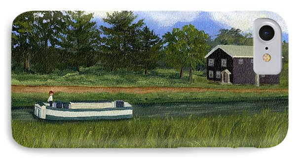 IPhone Case featuring the painting Old Erie by Lynne Reichhart