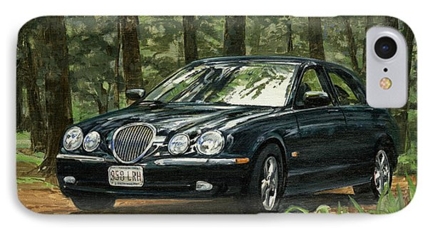 Old Faithful 2000 Jag IPhone Case by Don  Langeneckert