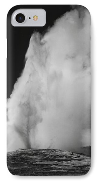 Old Faithful Geyser Yellowstone National Park Wyoming IPhone Case by Ansel Adams