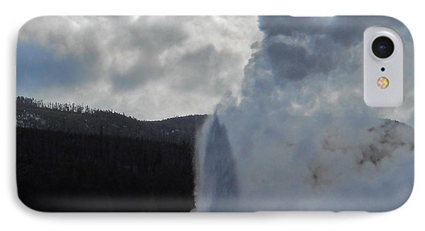 IPhone Case featuring the photograph Old Faithful Morning by Michele Myers