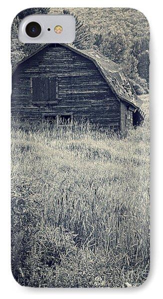 Old Falling Down Barn Blue IPhone Case by Edward Fielding