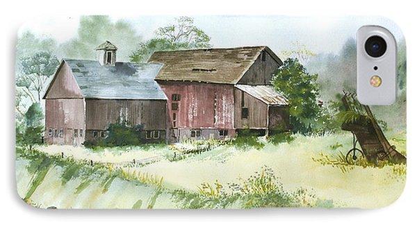 Old Farm Buildings IPhone Case by Susan Crossman Buscho