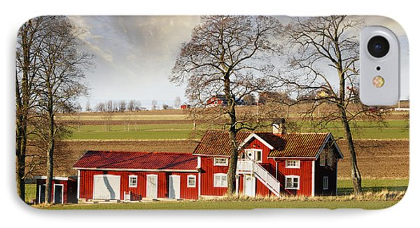 Old Farm Set In A Rural Picturesque Landscape IPhone Case by Christian Lagereek