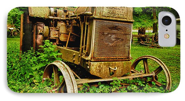 Old Farm Tractor IPhone Case by Sebastian Musial