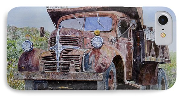 Old Farm Truck IPhone Case by Anthony Butera
