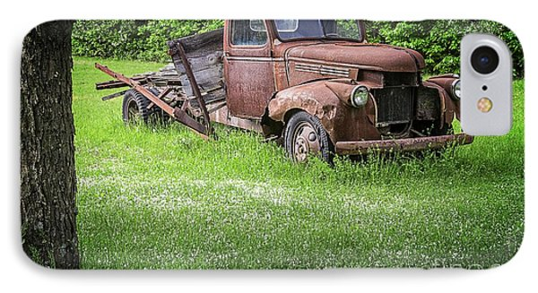 Old Farm Truck IPhone Case by Edward Fielding