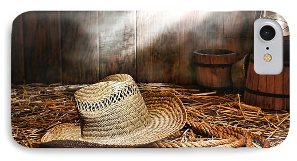 Old Farmer Hat And Rope Phone Case by Olivier Le Queinec