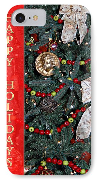 Old Fashioned Christmas Phone Case by Carolyn Marshall