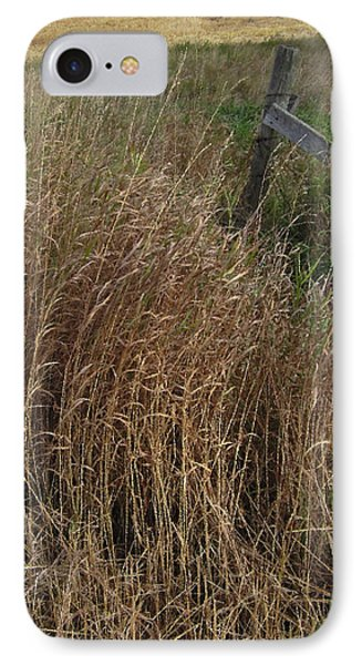 Old Fence Line IPhone Case by Donald S Hall