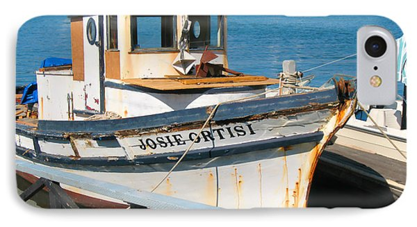 IPhone Case featuring the photograph Old Fishing Boat In Sausalito by Connie Fox