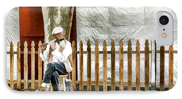 Old Flute Player IPhone Case