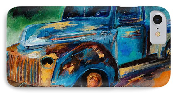 Old Ford In The Back Of The Field IPhone Case by Elise Palmigiani