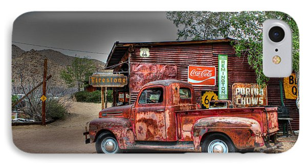 Old Ford Pickup On Route 66 Phone Case by Lynn Jordan