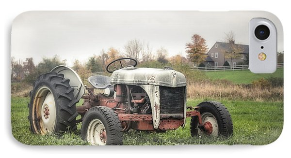 Old Ford Tractor And Farm House Phone Case by Gary Heller