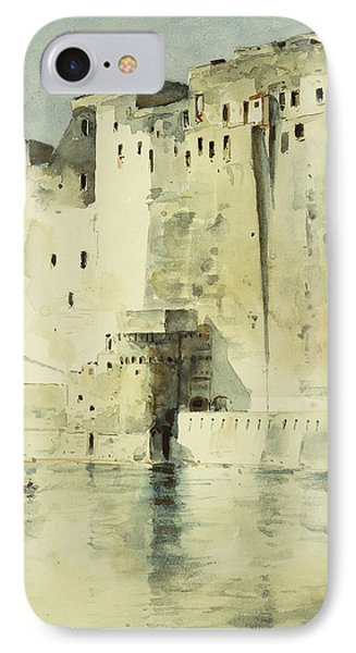 Old Fortress Naples IPhone Case by Childe Hassam