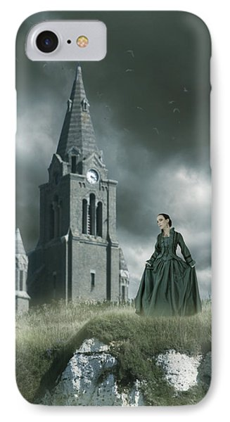 IPhone Case featuring the photograph Old Freanch Church With Maiden by Ethiriel  Photography