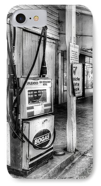 Old Fuel Pump - Black And White Phone Case by Kaye Menner