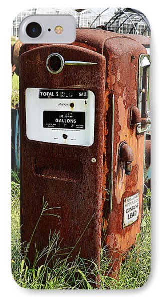 IPhone Case featuring the photograph Old Gas Pump by Paul Mashburn