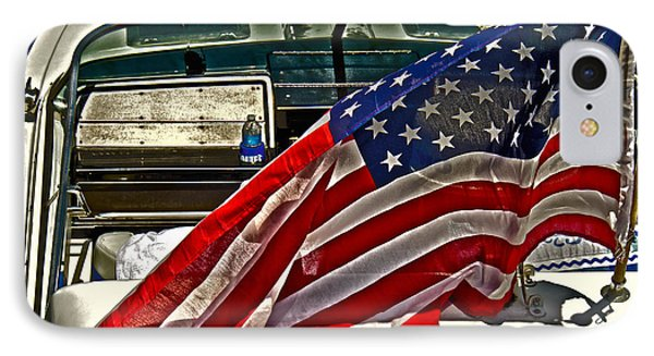 Old Glory And The Bay Phone Case by Tom Gari Gallery-Three-Photography