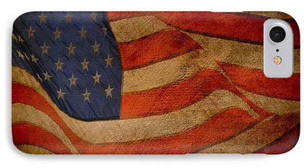 IPhone Case featuring the digital art Old Glory Combat Flag by Davina Washington