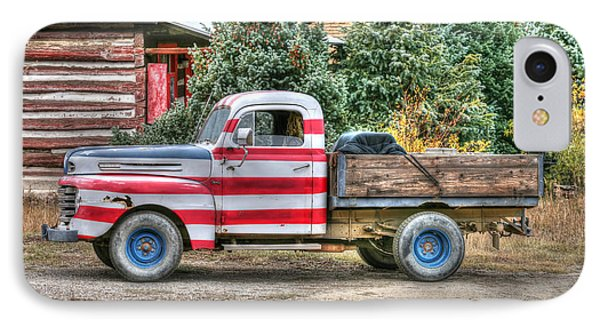 IPhone Case featuring the photograph Old Glory Ford Pickup by Harold Rau