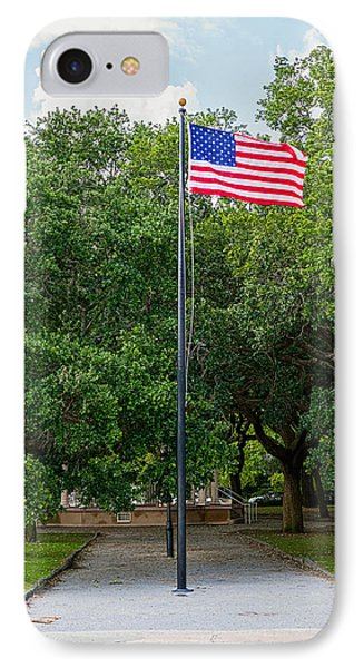 IPhone Case featuring the photograph Old Glory High And Proud by Sennie Pierson