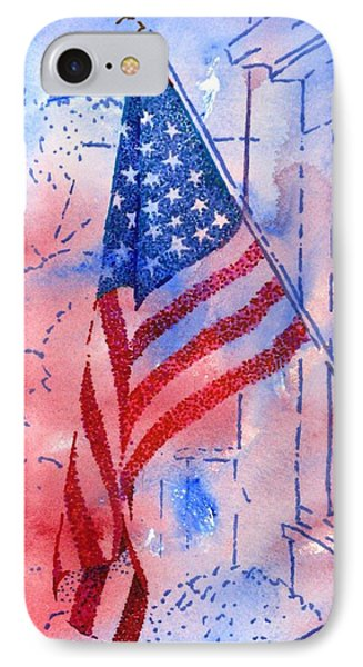 Old Glory In The Neighborhood Phone Case by Peter Plant