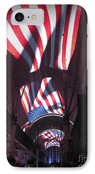 Old Glory In Vegas Phone Case by John Malone