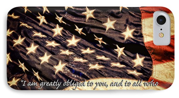 Old Glory Military Tribute IPhone Case by Lincoln Rogers