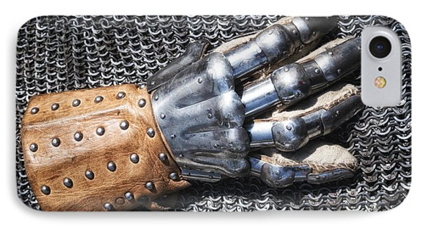 Old Glove Of A Medieval Knight Phone Case by Matthias Hauser