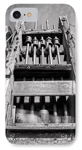 Old Gold Mine Technology In Black And White Phone Case by Lee Craig