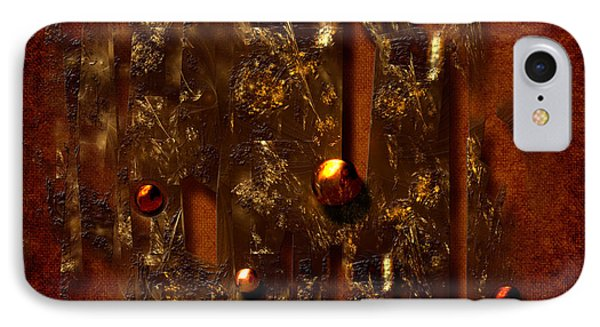 IPhone Case featuring the digital art Oldgold by Alexa Szlavics