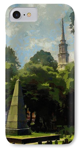 Old Granery Burying Ground IPhone Case by Jeff Kolker