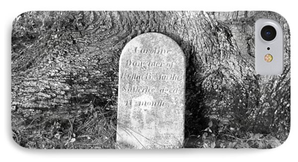 IPhone Case featuring the photograph Old Gravestone by Karen Molenaar Terrell
