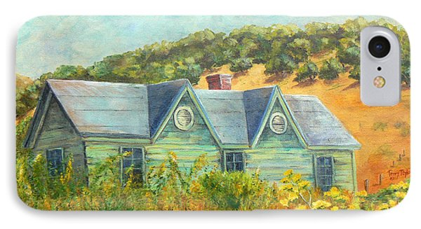 IPhone Case featuring the painting Old Green House On The Hill by Terry Taylor