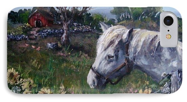 IPhone Case featuring the painting Old Grey Mare by Megan Walsh