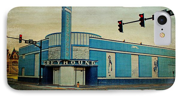 Old Greyhound Bus Station IPhone Case by Sandy Keeton