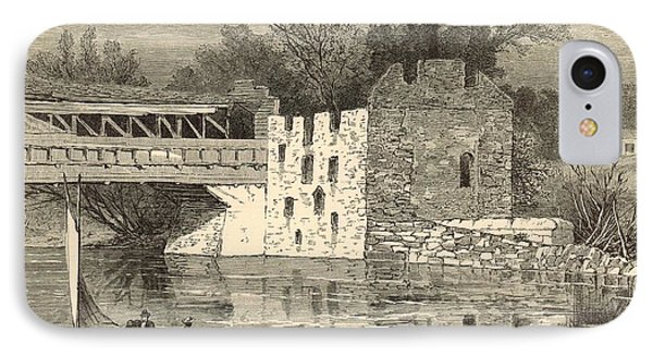 Old Grist-mill Of The Revolution 1872 Engraving By John Karst IPhone Case by Antique Engravings