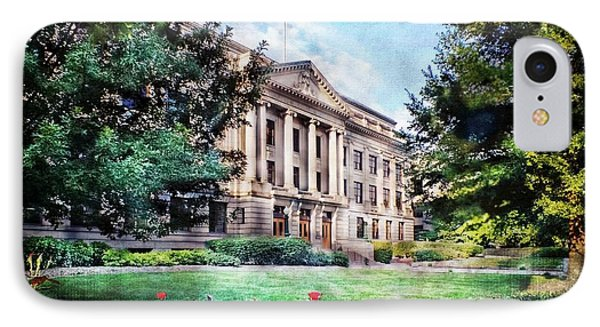 Old Guilford County Courthouse Summertime IPhone Case
