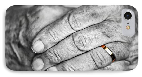 Old Hands With Wedding Band Phone Case by Elena Elisseeva