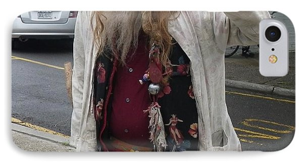 IPhone Case featuring the photograph Old Hippie In Woodstock Ny  by Anna Ruzsan