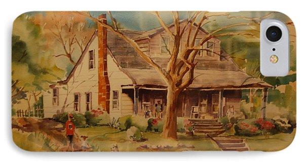 Old Home  Phone Case by Lynn Beazley Blair