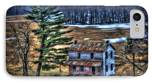 Old Home Place Beside Pine Tree Phone Case by Dan Friend
