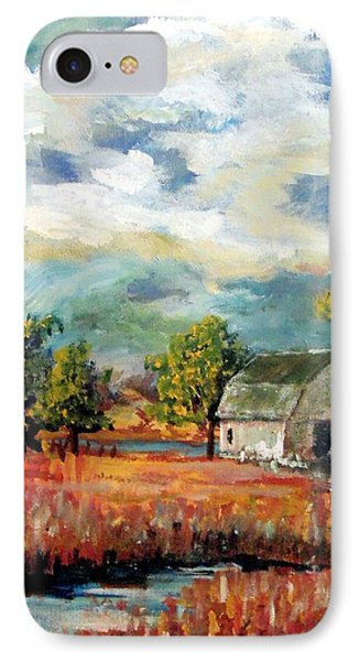 IPhone Case featuring the painting Old Home Place by Jim Phillips