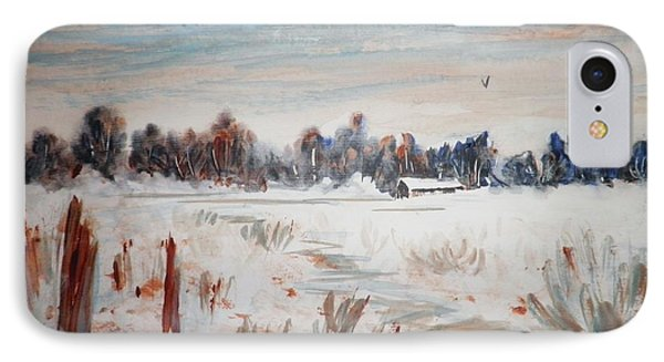 Old Homestead In Winter IPhone Case by Suzanne McKay
