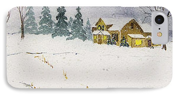 IPhone Case featuring the painting Old Homestead by Susan Crossman Buscho